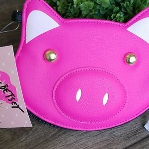 Luv Betsey Pink Pig Coin Purse